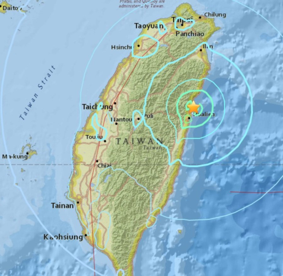 Powerful Earthquake Hits Taiwan - USGS