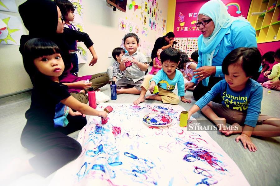 There were only 45 applications submitted for grants to build child care centres (taska) at government premises nationwide this year. - NST/file pic