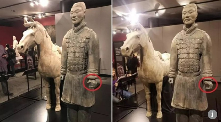 2000-year-old terra-cotta statue thumb stolen