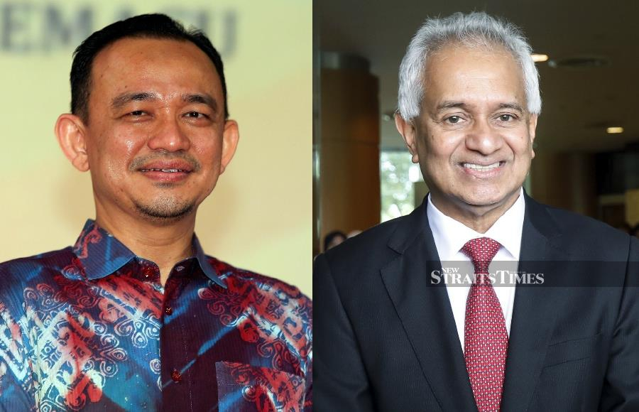 Former Education Minister Dr Maszlee Malik (left) and Attorney-General Tommy Thomas. -NSTP/File pic