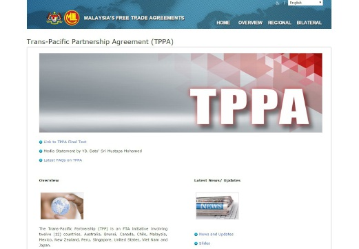 Tpp Text Is Public Now Mustapa New Straits Times Malaysia
