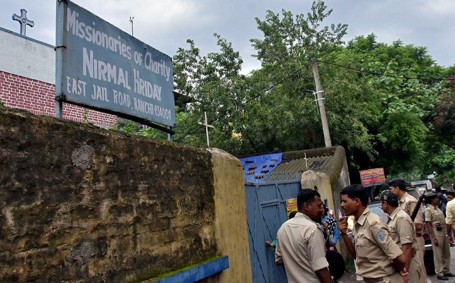 ... provides shelter for pregnant unmarried women run by the Missionaries  of Charity, a Roman Catholic order founded by Mother Teresa, in Ranchi,  India, ...