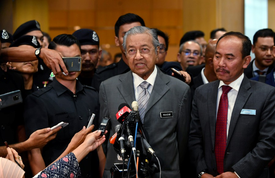 """""""We stand by our principles that Israel is a criminal state. It has broken many international laws and no one is saying anything about it"""" said Prime Minister Tun Dr Mahathir Mohamad. Bernama"""