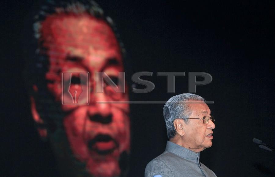 Tun Dr Mahathir Mohamad says this time around he has to do more work than the first time he became Malaysia's prime minister. NSTP/ASWADI ALIAS.