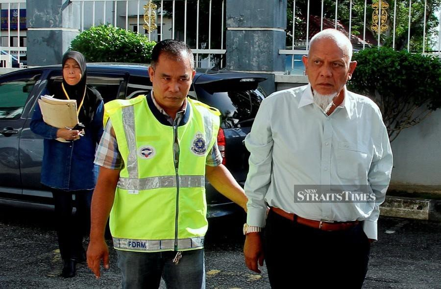 The accused, Datuk Md Hamdan Ahmad, 65, made the plea after all 10 of the charges were read out in the presence of Magistrate Noor Azreen Mohd Darus. (BERNAMA)