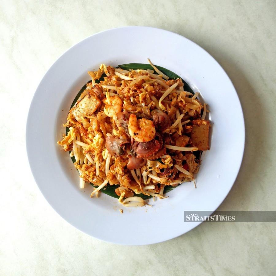 Signature favourite, the char kway teow.