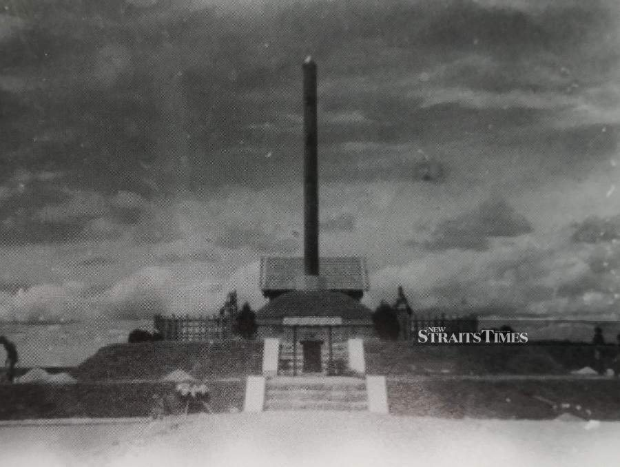 The Pagoda of the Japanese Patriots in Bukit Timah was destroyed by the British and returned to Singapore in September 1945.