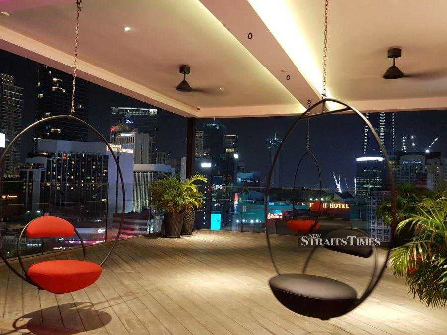 Chill up on the rooftop whilst enjoying the view.