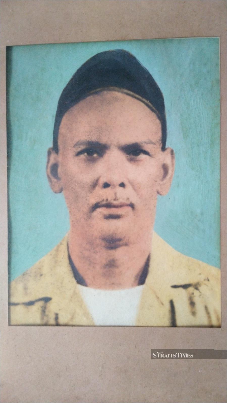 Portrait of Ali bin Karam Ali, Haji Wahid's father.