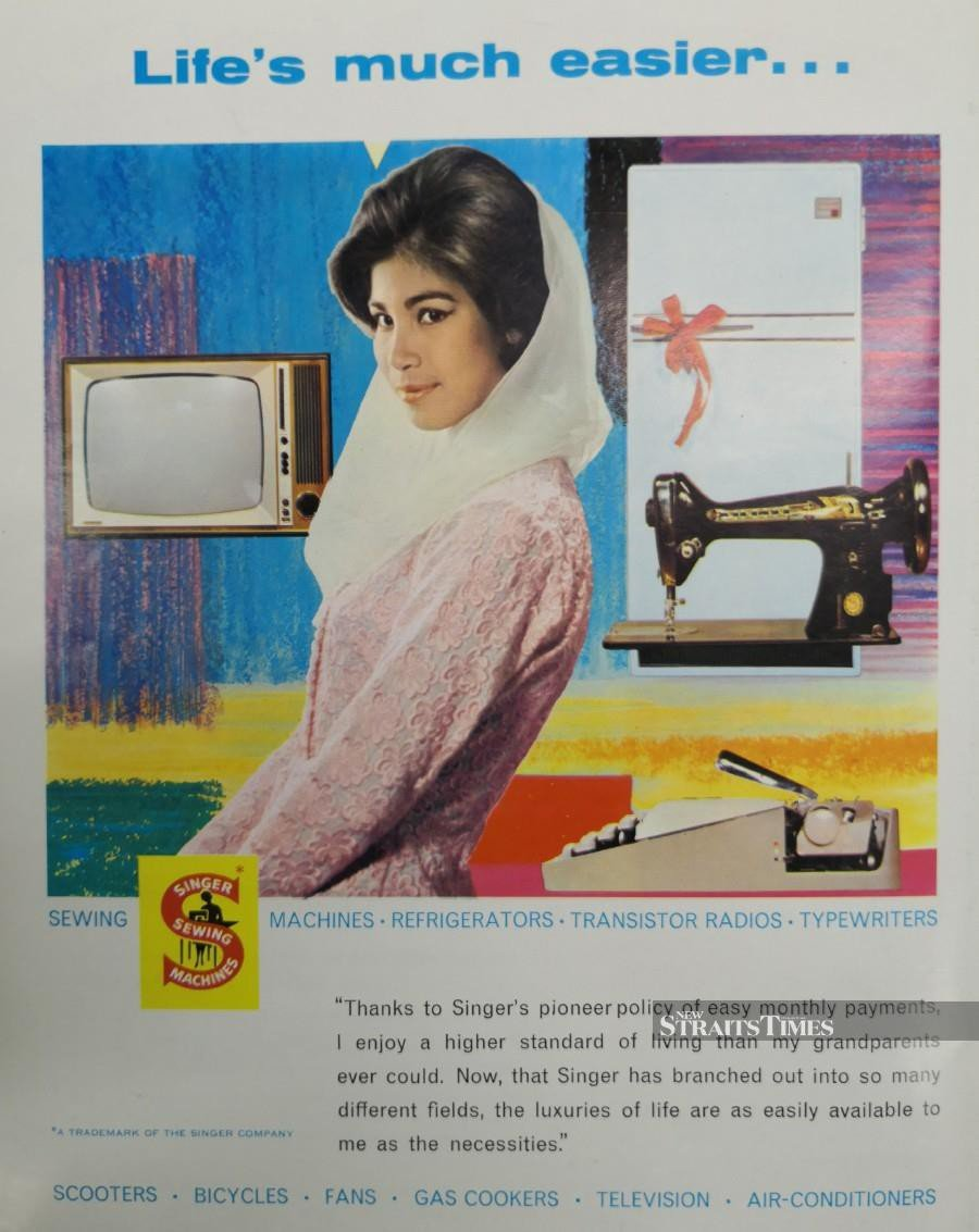 Singer was the most popular sewing machine brand in Malaya in the 1960s.