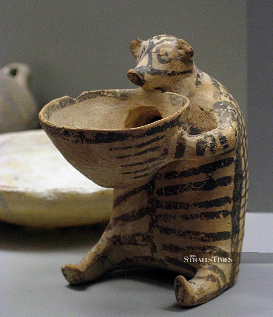 A charming bear from ancient Greece, created by a potter more than 4,000 years ago.