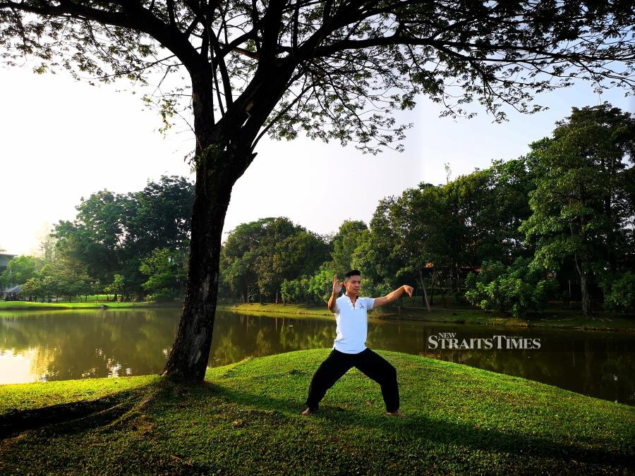 Wee credits tai-chi for helping him find balance in life.