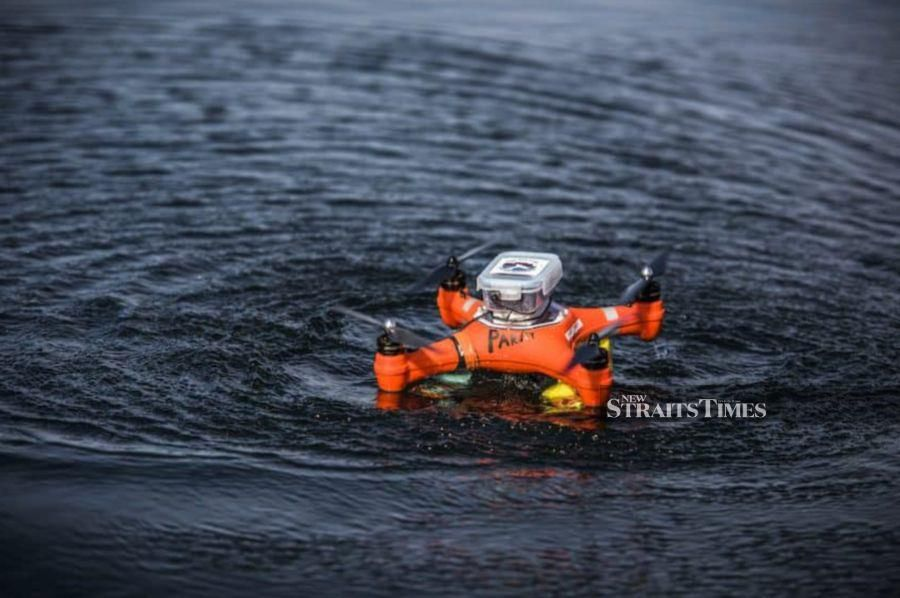 The waterproof EarBot drone is used to collect bio-acoustics data on whales.