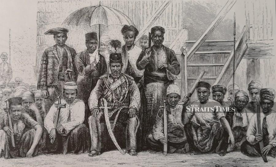 Sultan Abdullah and his followers signed the Pangkor Treaty in 1874.