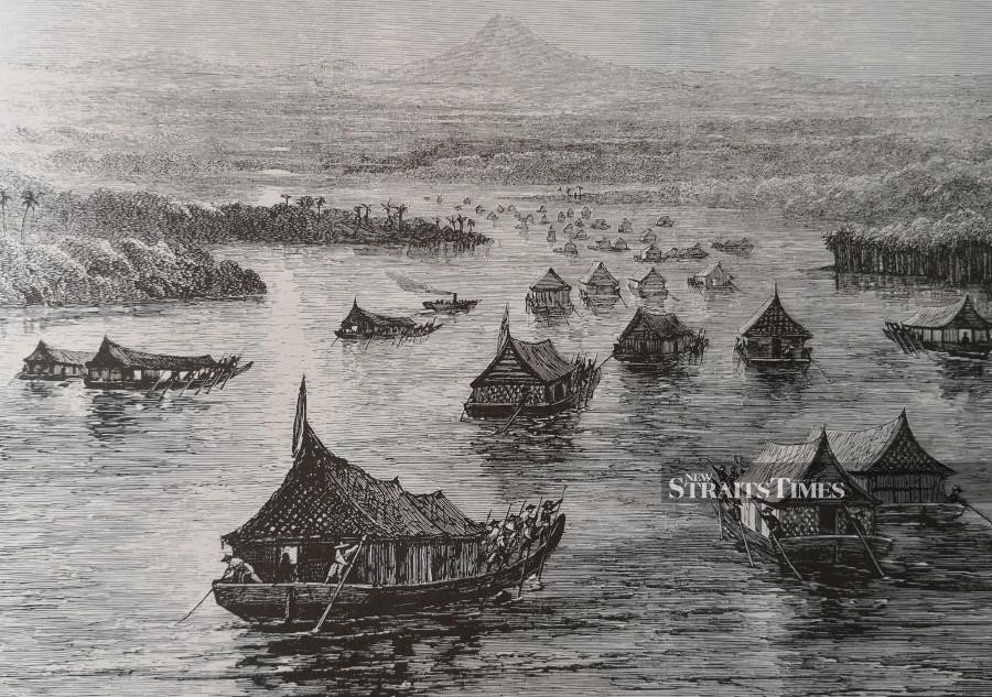 British forces ascending the Perak River soon after Birch's assassination.