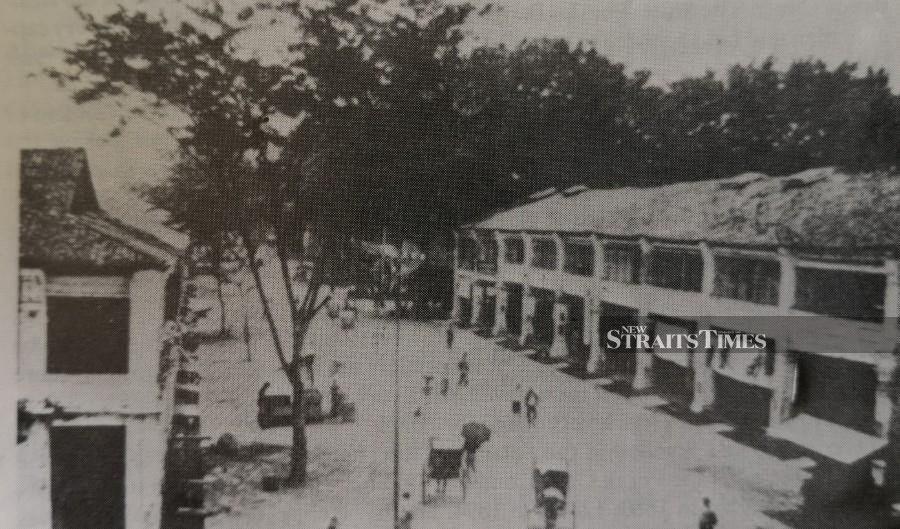 A Taiping street scene in the 1880s.