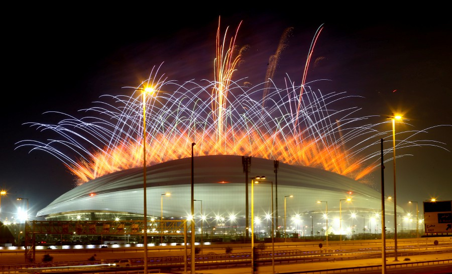 Qatar brings first new World Cup stadium to life as FIFA