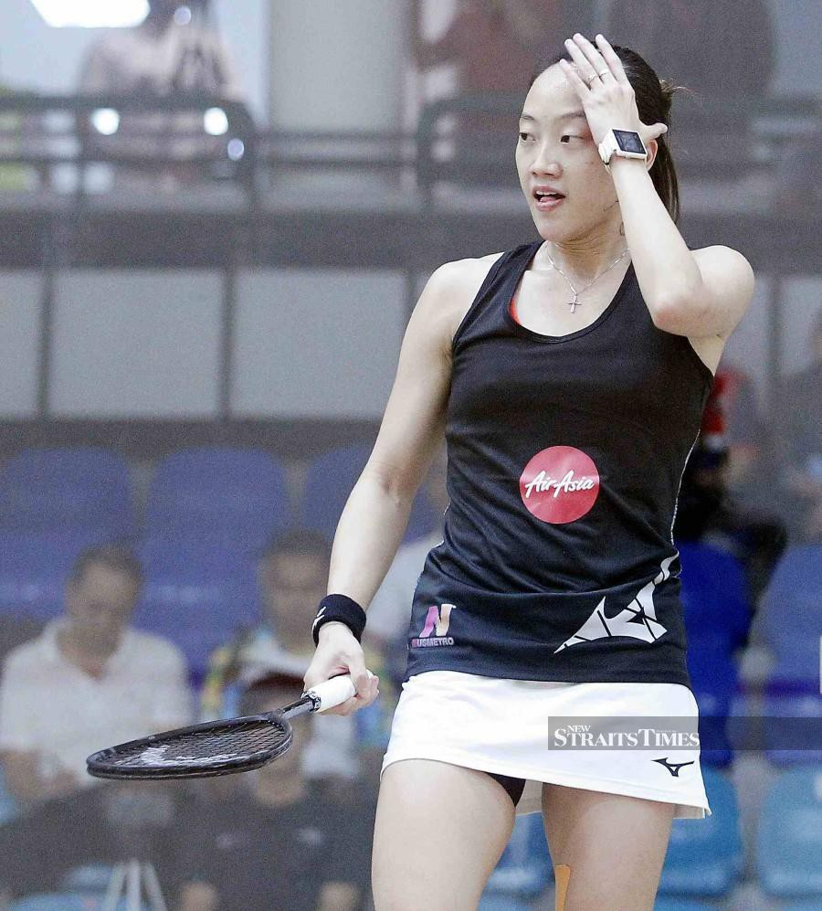 Having beaten World No 8 Amanda Sobhy of the United States last month, the Penangite was eager to show her progress against top-10 players. Photo: Saifullizan Tamadi/NST