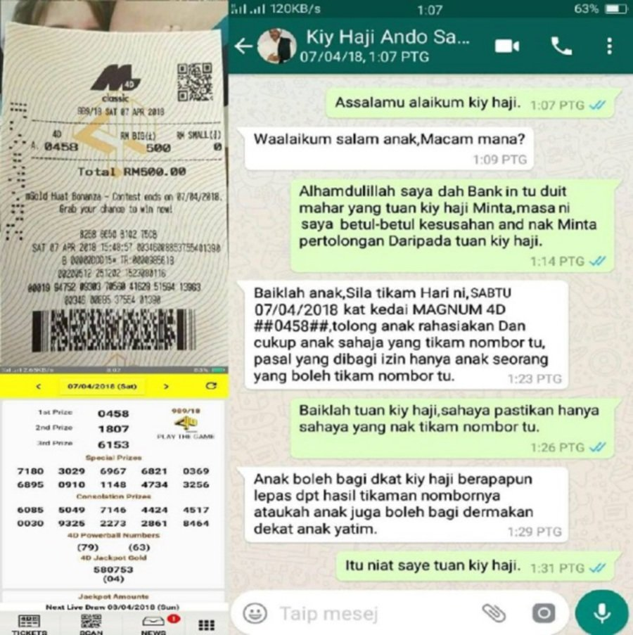 Fake 'haji' detected running lottery numbers prediction scam
