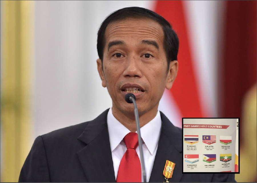 Indonesian flag misprint jokowi says no need to make issue any indonesian president joko widodo has called for a end to the controversy over a misprint of the indonesian flag in a 2017 kuala lumpur sea games booklet reheart Images