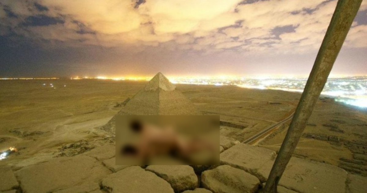 Egypt Arrests Two Over Nude Tourists On Pyramid  New -6445