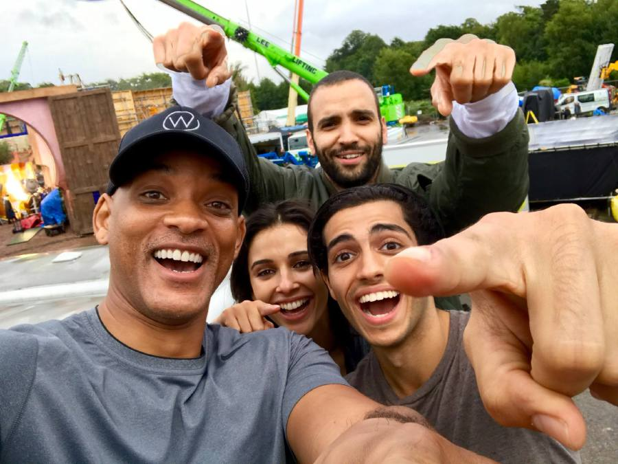 Will Smith shares selfie of Aladdin cast