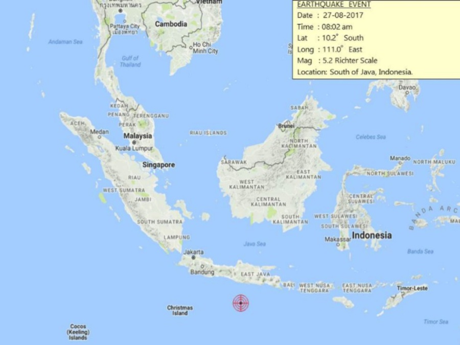 Magnitude 52 quake rattles southern java indonesia new straits magnitude 52 quake rattles southern java indonesia gumiabroncs Gallery