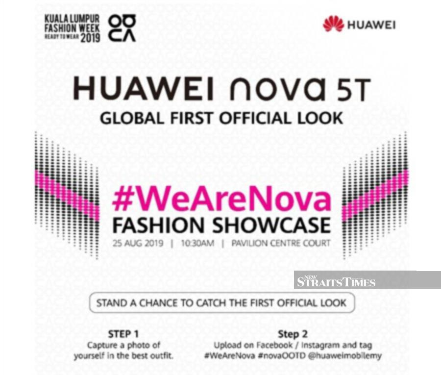 Huawei Nova 5t To Make First Global Appearance At Kl Fashion