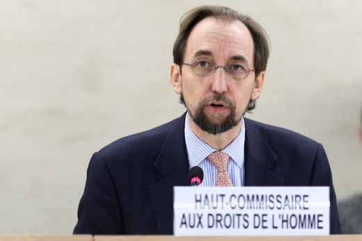UN High Commissioner for Human Rights Zeid Ra'ad Al Hussein, of Jordan, speaks, during the Human Rights Council that holds its 26th Special Session on the human rights situation in South Sudan, at the United Nations Human Rights Council at the UN headquarters in Geneva, Switzerland, 14 December 2016. EPA