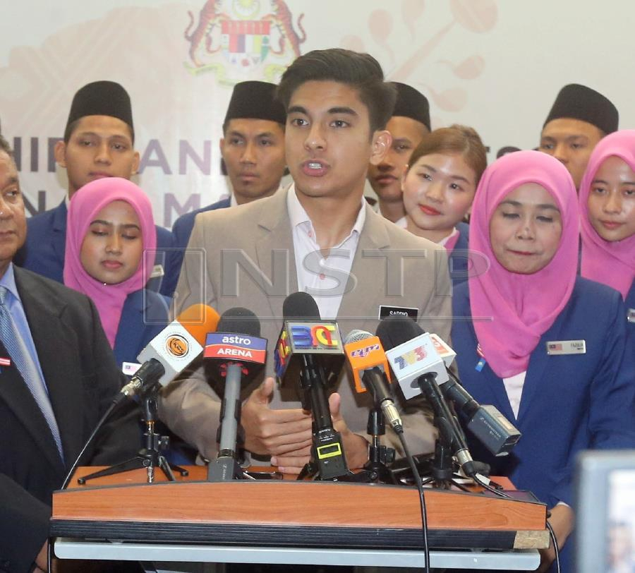 The Look East Policy will be used as a basis for sports development in the country, said Youth and Sports Minister Syed Saddiq Syed Abdul Rahman. NSTP/MOHD FADLI HAMZAH